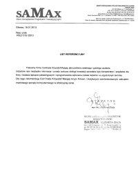 Referencje - SAMAX