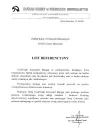 Referencje - Zakład Karny w Uhercach Mineralnych